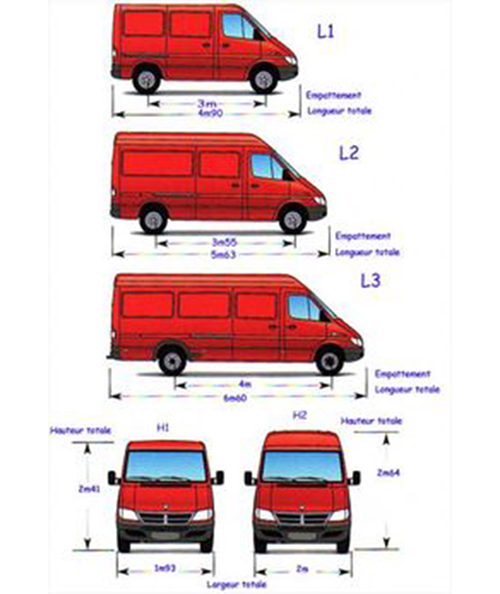 Porta escaleras para diferentes altura de techo de furgones